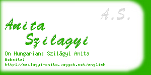 anita szilagyi business card
